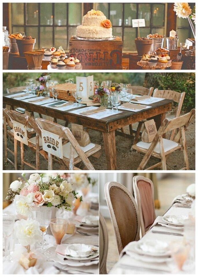 Hochzeit im Vintage-Stil - Trends 2014 - Fotos: Heather Gilson & Jon Almeda/KT Merry Photography