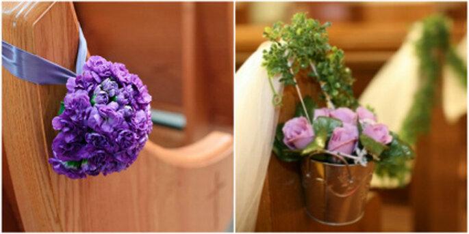 Decoración floral en la iglesia