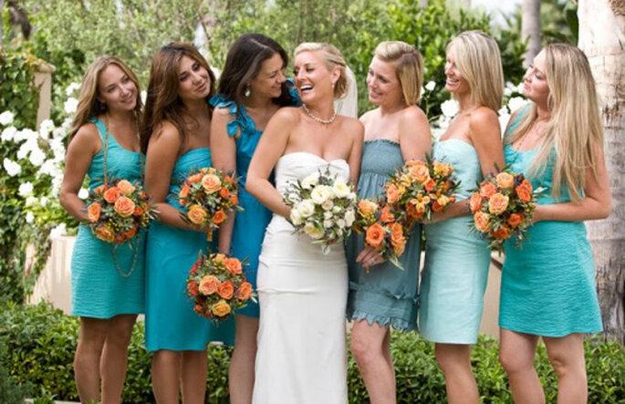 Tenue des demoiselles d'honneur. Photo : Wedding-Wardrobe.com