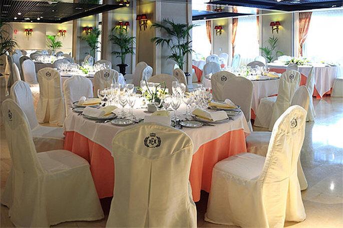 Celebrar el banquete en un salón cerrado tiene infinidad de ventajas. Foto: Concha Molina