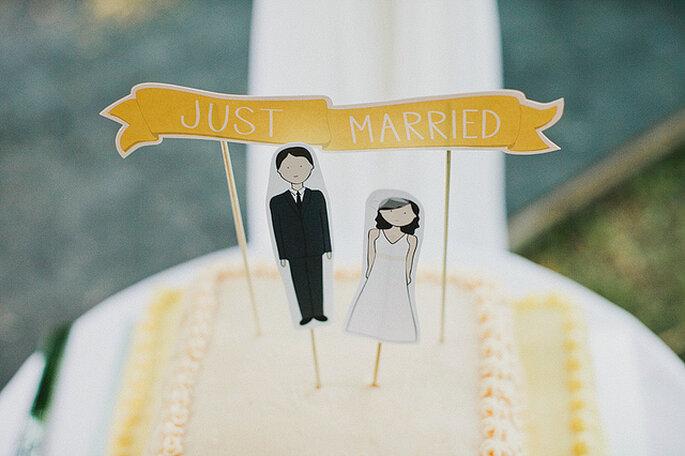 Detalle de la torta de matrimonio. Foto: Julian Beattie