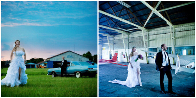 La boda en la calle: hangar - Everton Rose