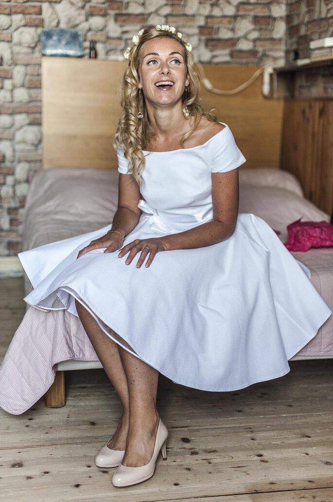 La mariée civile. Photo : Sylvain LE LEPVRIER