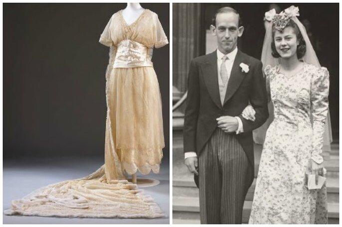 Vestido de 1914 y boda de la reina Elizabeth y Ralph Rowland. Foto: Wedding Dress.