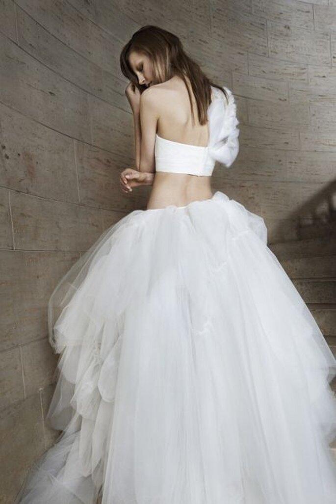 Vestido de novia estilo crop top de Vera Wang - Colección Primavera 2015