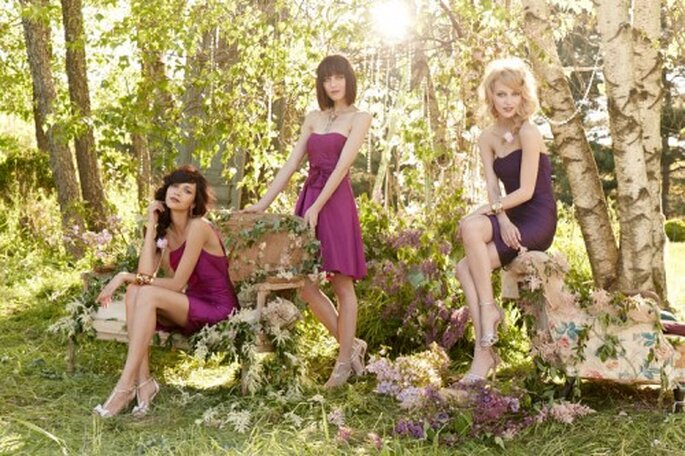Vestidos para damas de boda en color púrpura - Foto Occasions en JLM Couture