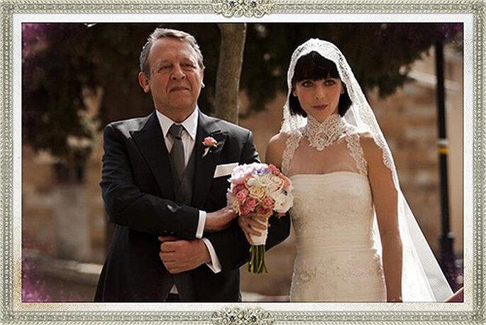 Leticia Dolera escogió personalmente su vestido de novia para la película REC. Foto: Rosa Clará
