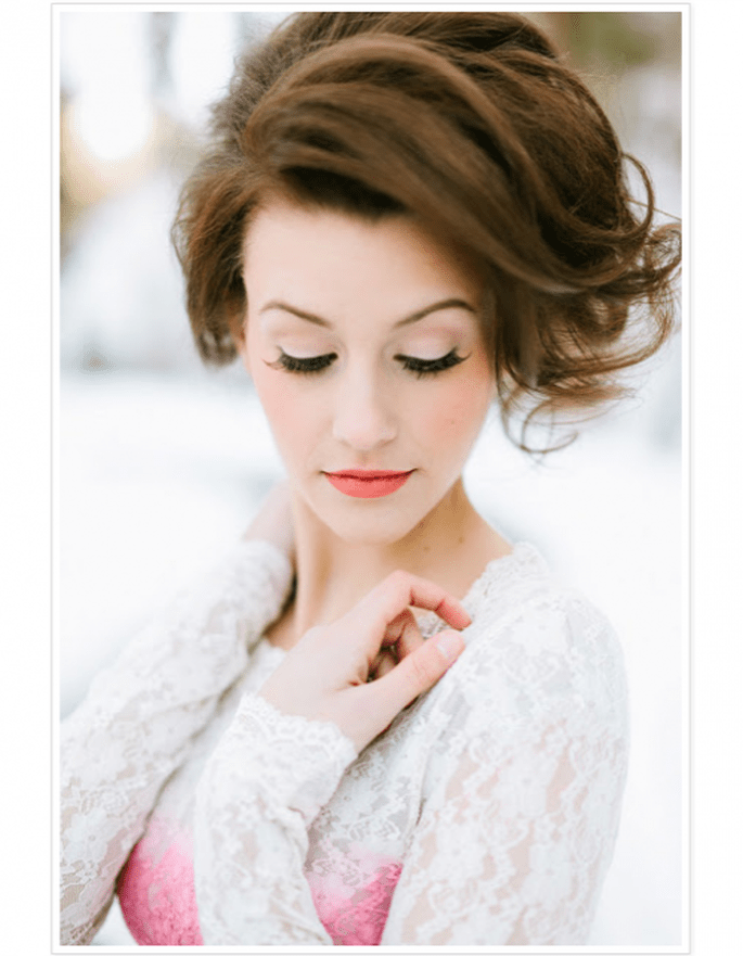 Disimula la cara redonda con un peinado con volumen en la parte superior - Foto Ciara Richardson