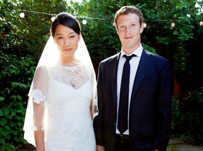 Mark Zuckerberg y Priscilla Chan en su boda - Foto Facebook oficial de Mark Zuckerberg