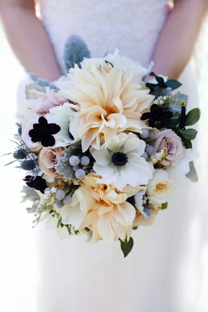 Un ramo de novia con mucho estilo para tu boda - Foto Patricia Kantzos Photography