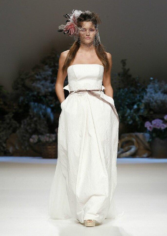 Robe de mariée avec ceinture Inmaculada García 2013