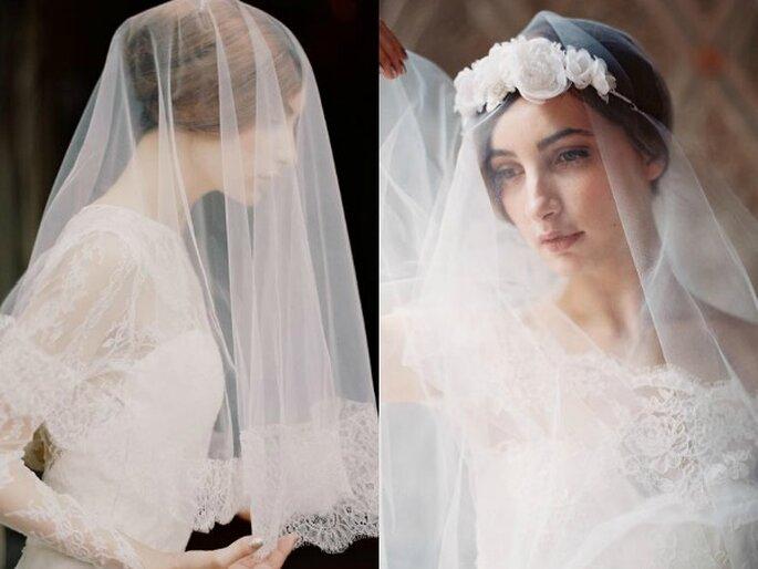 Novias veladas con una estética tradicional - Foto Enchanted Atelier