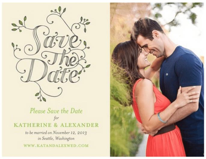 Las Save the Dates más originales - Foto Wedding Paper Divas