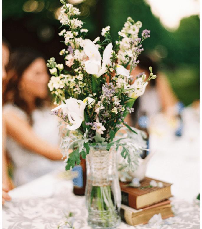 Los centros de mesa con flores más elegantes para una boda en 2014 - Foto Brett Heidebrecht