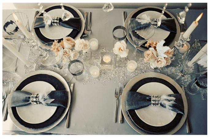 Una boda con detalles en color negro - Foto Suzanne Hansen Photography
