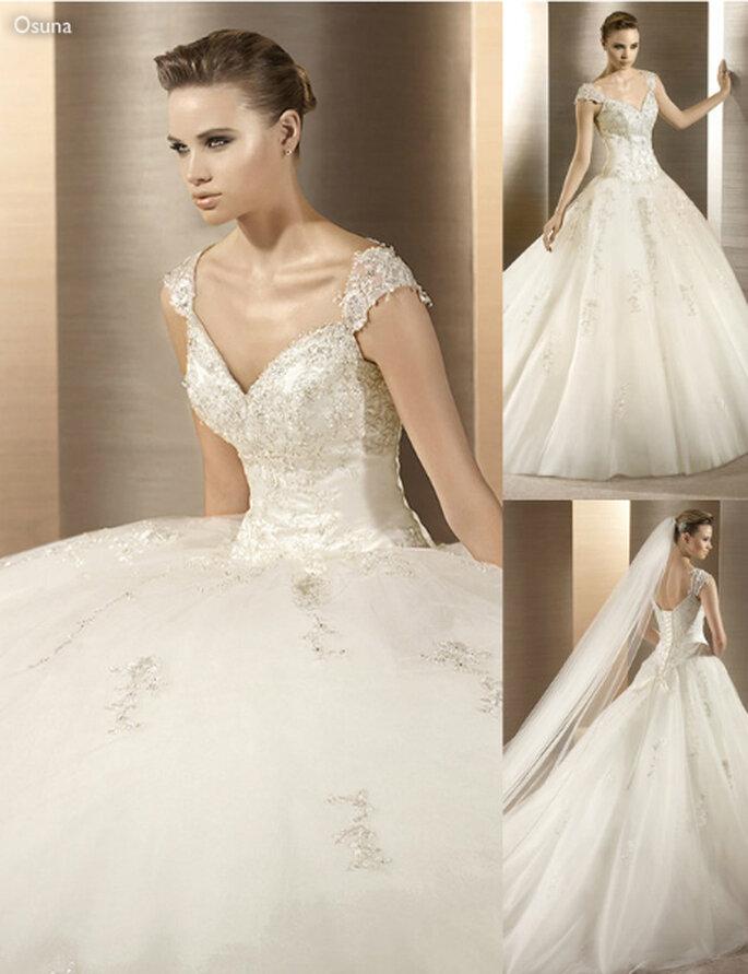 Vestido de novia estilo princesa - Foto: Atelier Diagonal