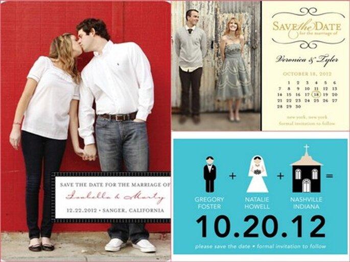 Save the Dates em imáns- www.weddingpaperdivas.com
