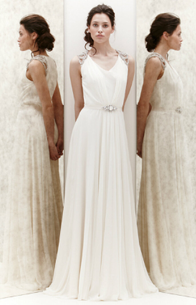 Bräute im Empire-Hochzeitskleidern sehen wie griechische Göttinnen aus – Foto: jenny packham