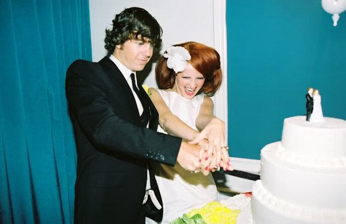 Una boda al estilo mod de los años 60 - Foto Leah McCormick