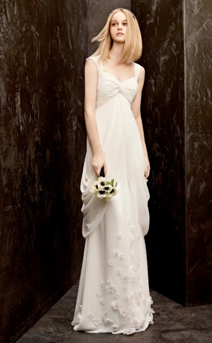 Vestido de novia ecónomico estilo vintage de Vera Wang - Foto David's Bridal
