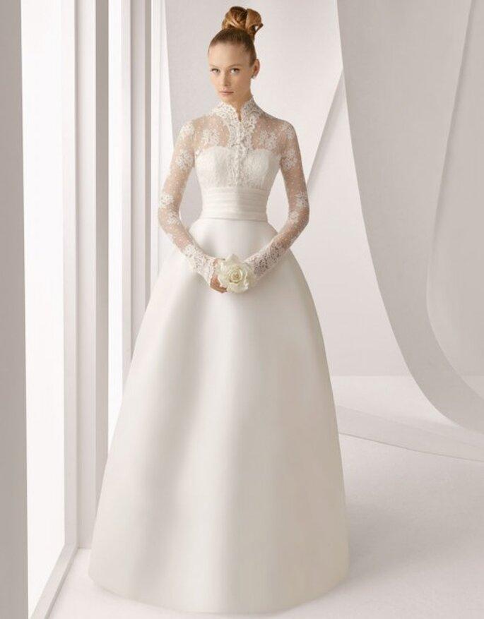 Vestido de novia Rosa Clará con encaje