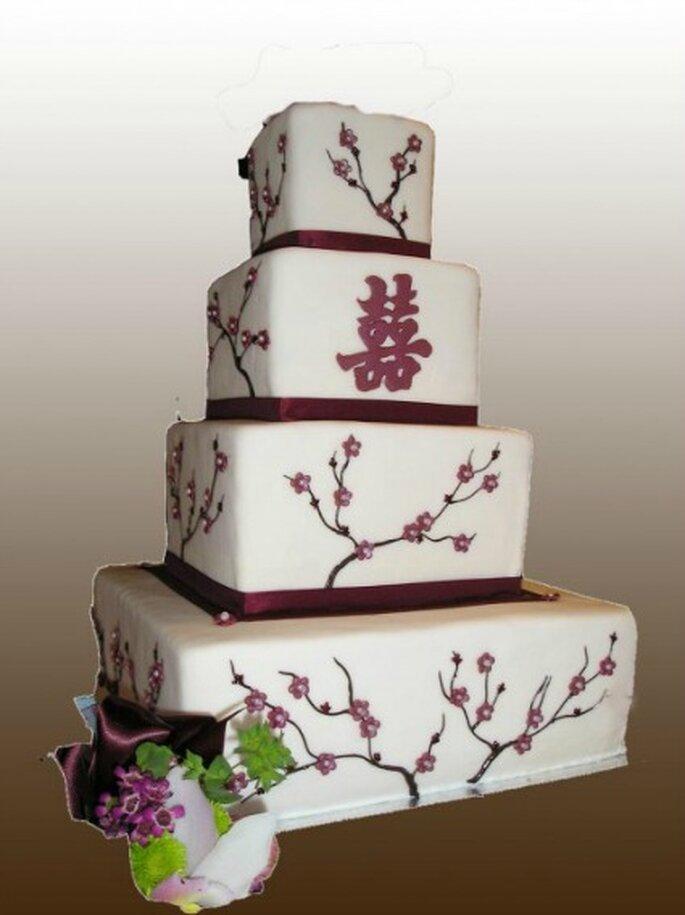 Pièce montée Zen : au top pour un mariage champêtre ! - Gâteau Création