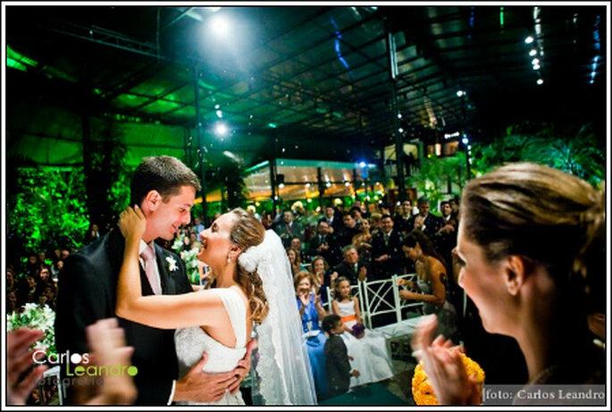 Momento tão esperado com os convidados. Foto: Carlos Leandro