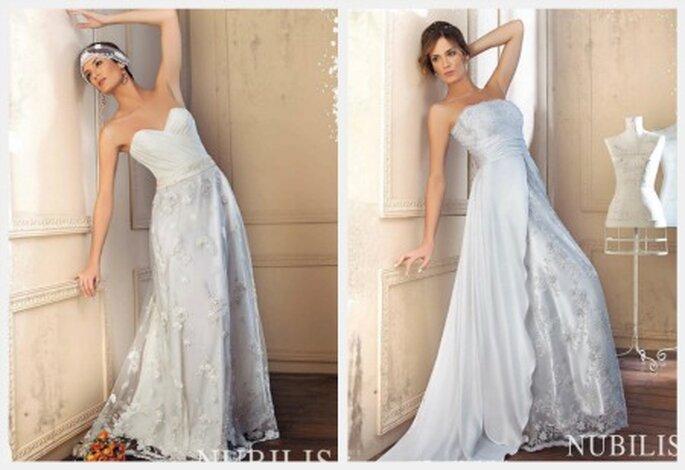 Paula en producciones de vestidos de novia para Nubilis