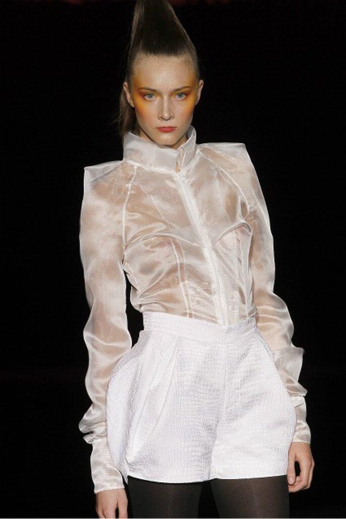 La colección de novia Miquel Suay 2012 también presentó shorts y pantalones - Ugo Camera / Ifema