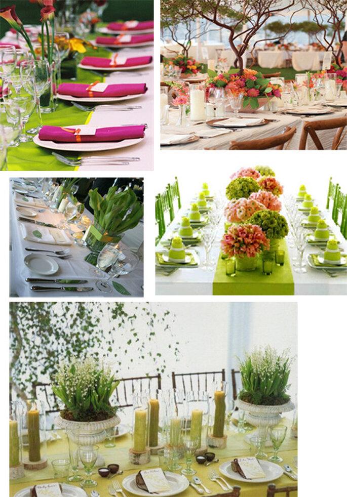 Ambientación para una decoración de boda de primavera
