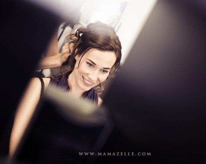 Sonrisa de novia. Foto Mamazelle