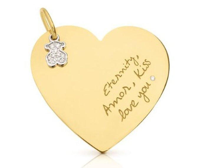 Colgante en oro amarillo y diamantes de Tous