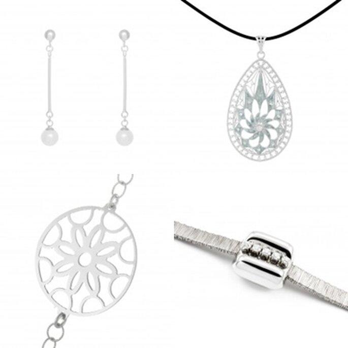 La plata es el complemento ideal para el look de novia. Foto: 234 plata