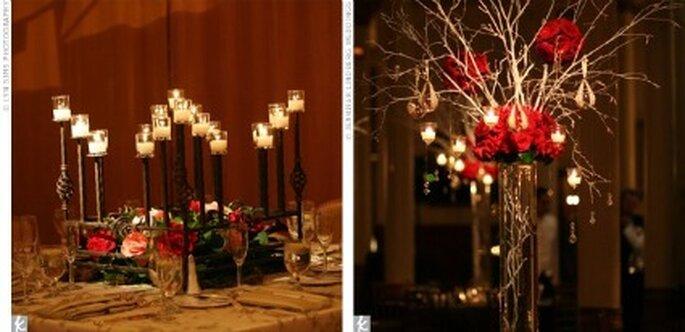 Décoration bougie table gothique - Gothic.weddings.com