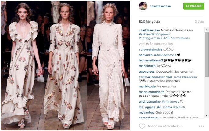 Imagen vía Instagram Casilda se casa