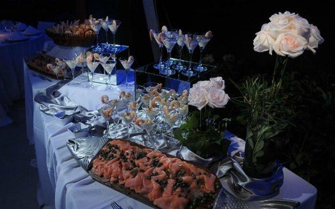 Gastronomía deliciosa para bodas organizadas por Komma Eventos. Foto: Komma Eventos