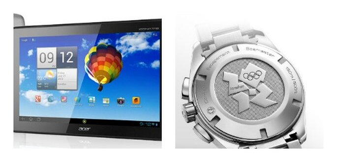 Tablet Acer e Orologio Omega. Foto: acer.it e omegawatches.com