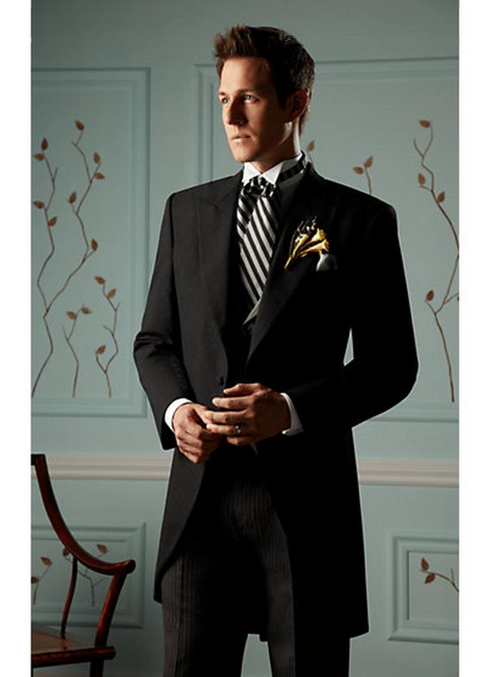 El chaqué es uno de los trajes más elegantes para novio - Foto Men's Wearhouse