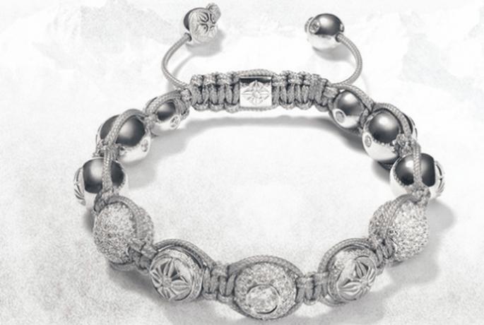 Brazalete de novia en color plata con diamantes - Foto Shamballa Jewels