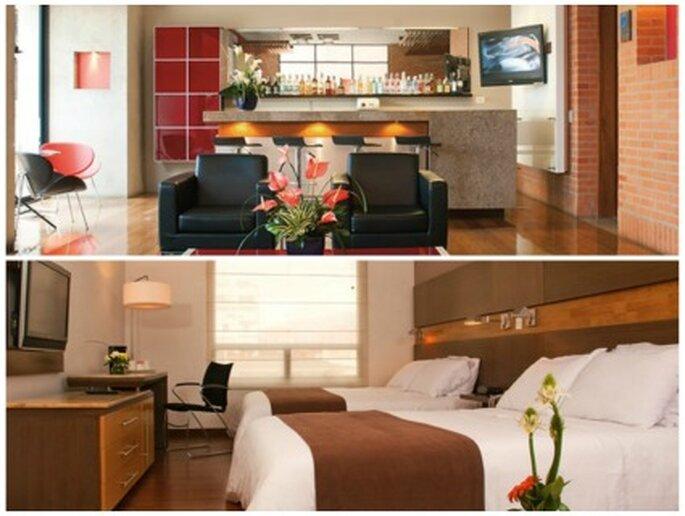 Area de bar y habitación      Foto: Hoteles BH El Retiro