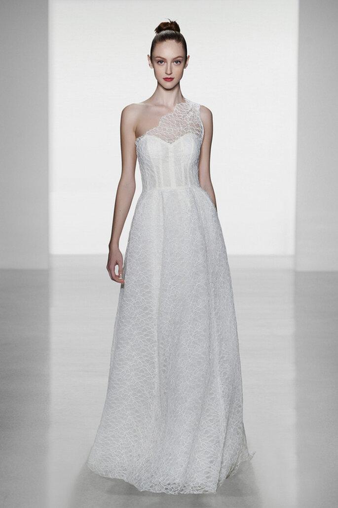 Vestido de novia Skylar de Amsale - Vista del frente. Foto: www.amsale.com