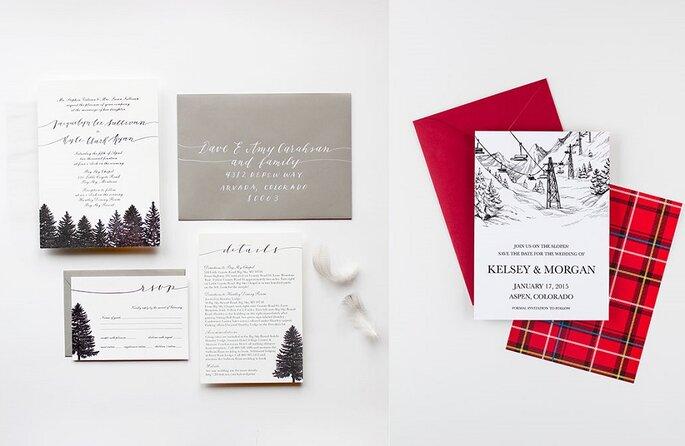 invitación boda Navidad
