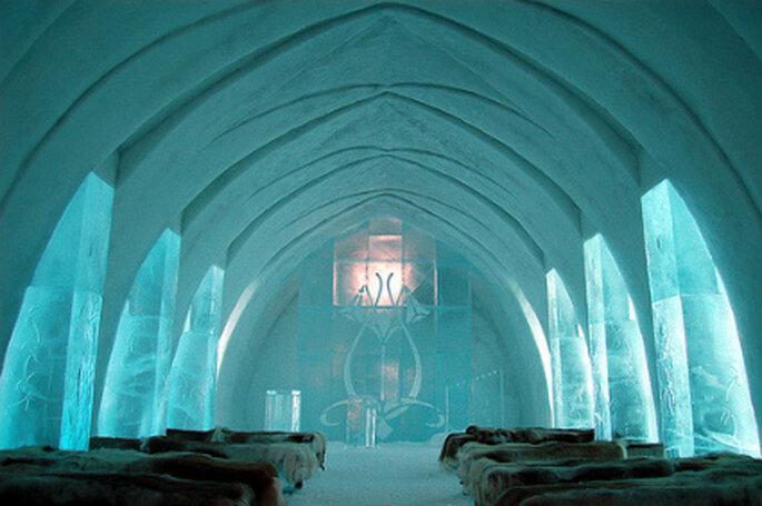 Casamento no gelo na Suécia, IceHotel