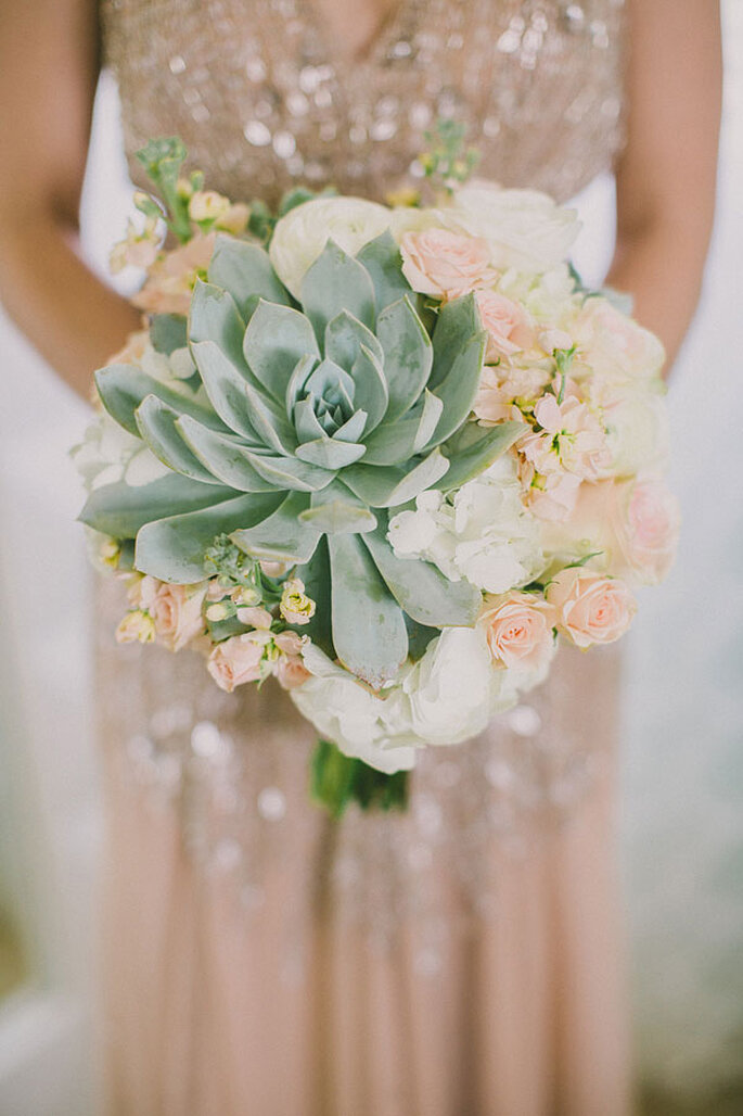 Una boda exótica decorada con cactus y suculentas - Dave Richards Photography