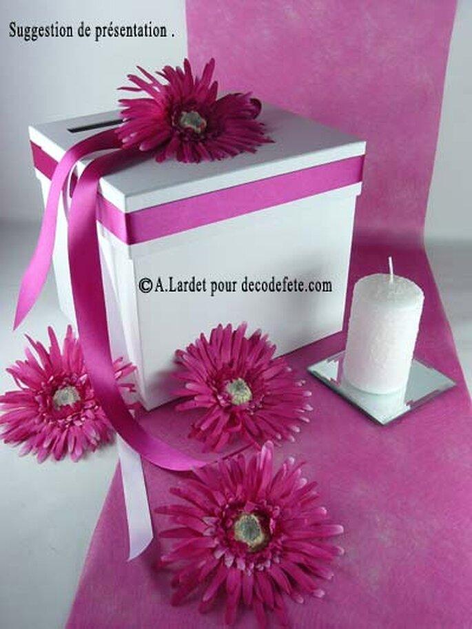 Jouez avec les fleurs pour votre décoration de mariage ! Source : decodefete.com