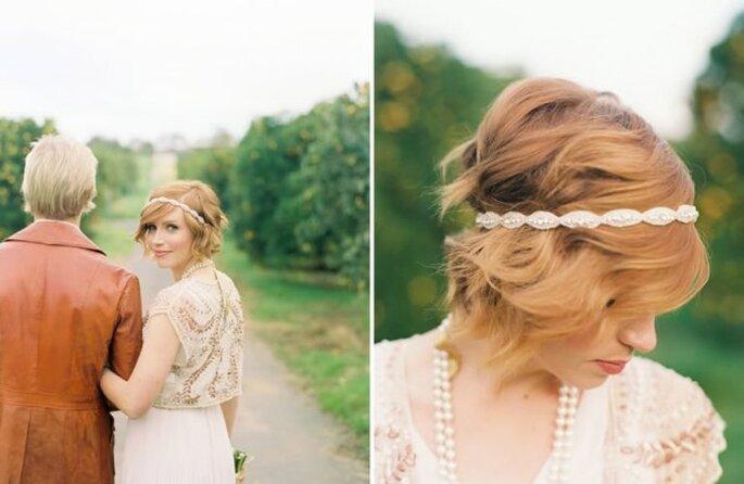 Cómo estilizar el fleco el día de la boda - Foto Jill Thomas