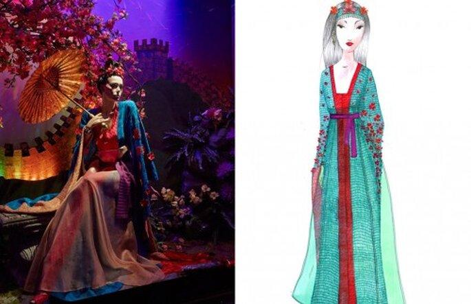 Vestido de novia Missoni inspirado en Mulan - Foto Harrods