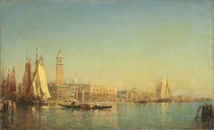 Que diriez-vous d'une reproduction de cette oeuvre de Félix Ziem ? - Venise, vue du palais des Doges et du quai des Esclavons