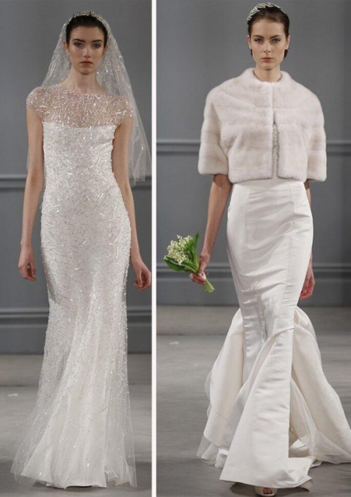 Vestidos de novia elegantes para boda civil o segundas nupcias - Foto Monique Lhuillier