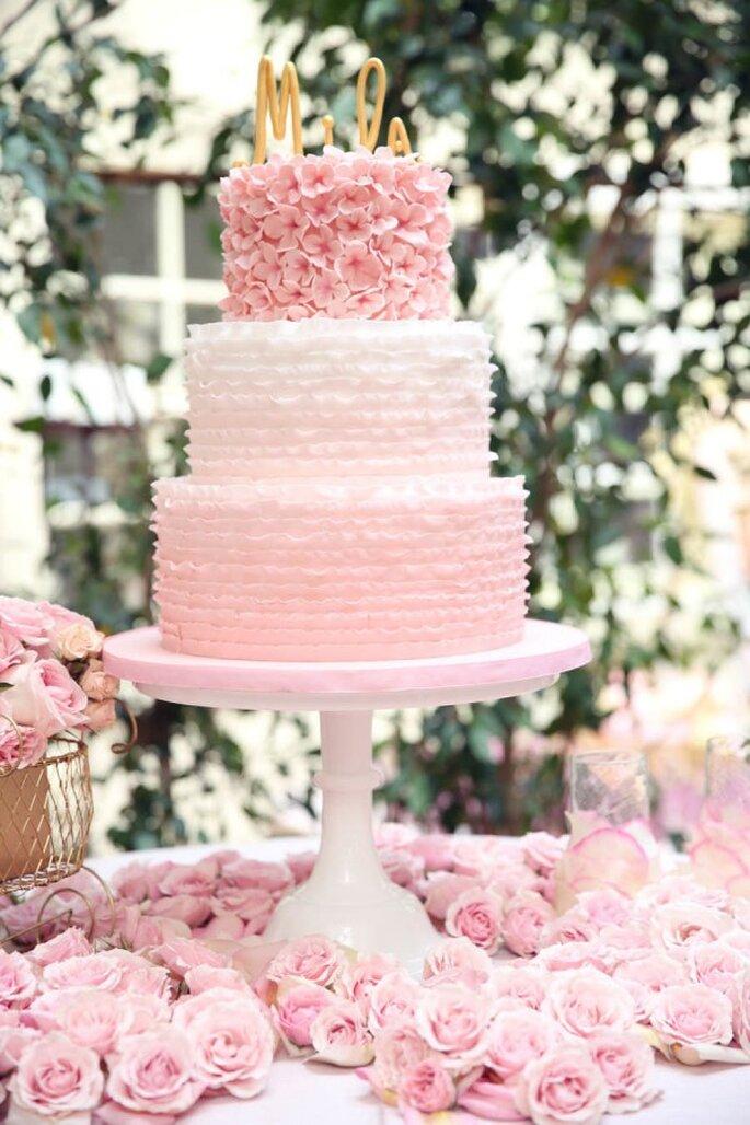 Pasteles de boda que romperán esquemas en 2015 - Foto Melody Melikian Photography